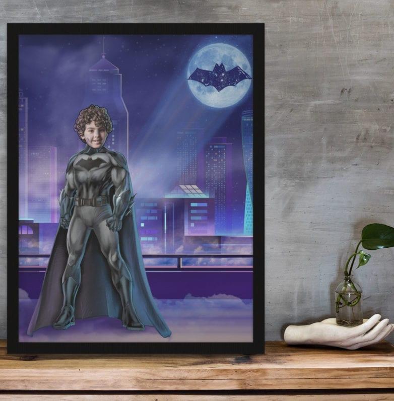 personalised superhero illustration