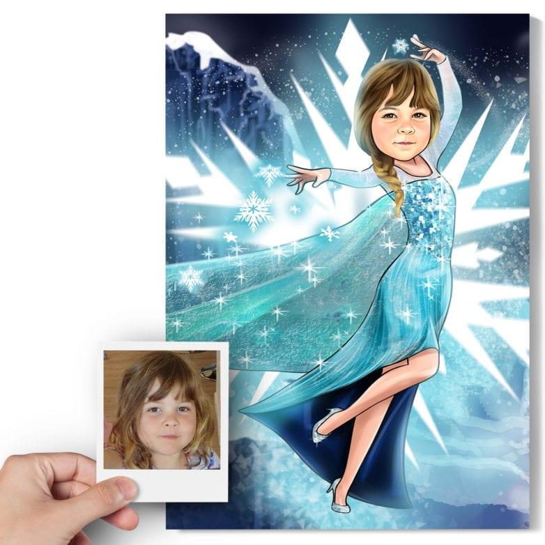 frozen elsa caricature
