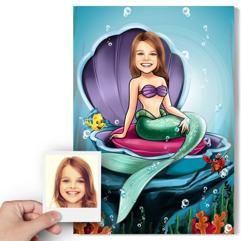 ariel the little mermaid paintings