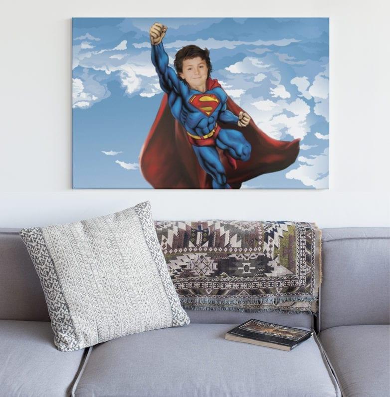 personalised superhero picture