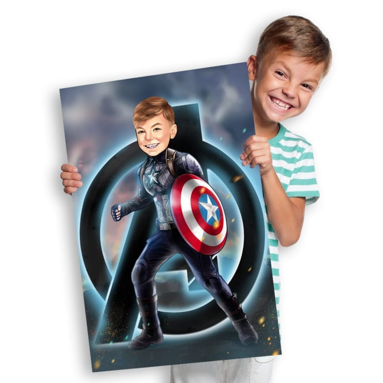 captain america canvas painting