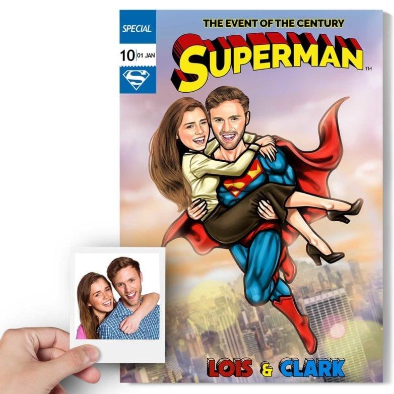 cartoon superman caricature
