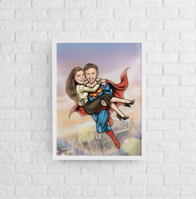 cartoon superman canvas