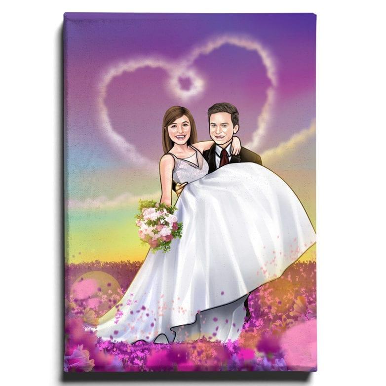 cartoon wedding dress